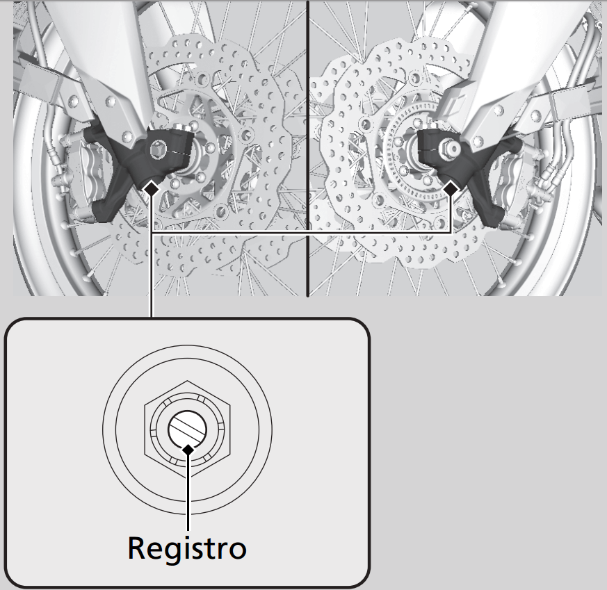 Smorzamento della compressione forcelle CRF1000L
