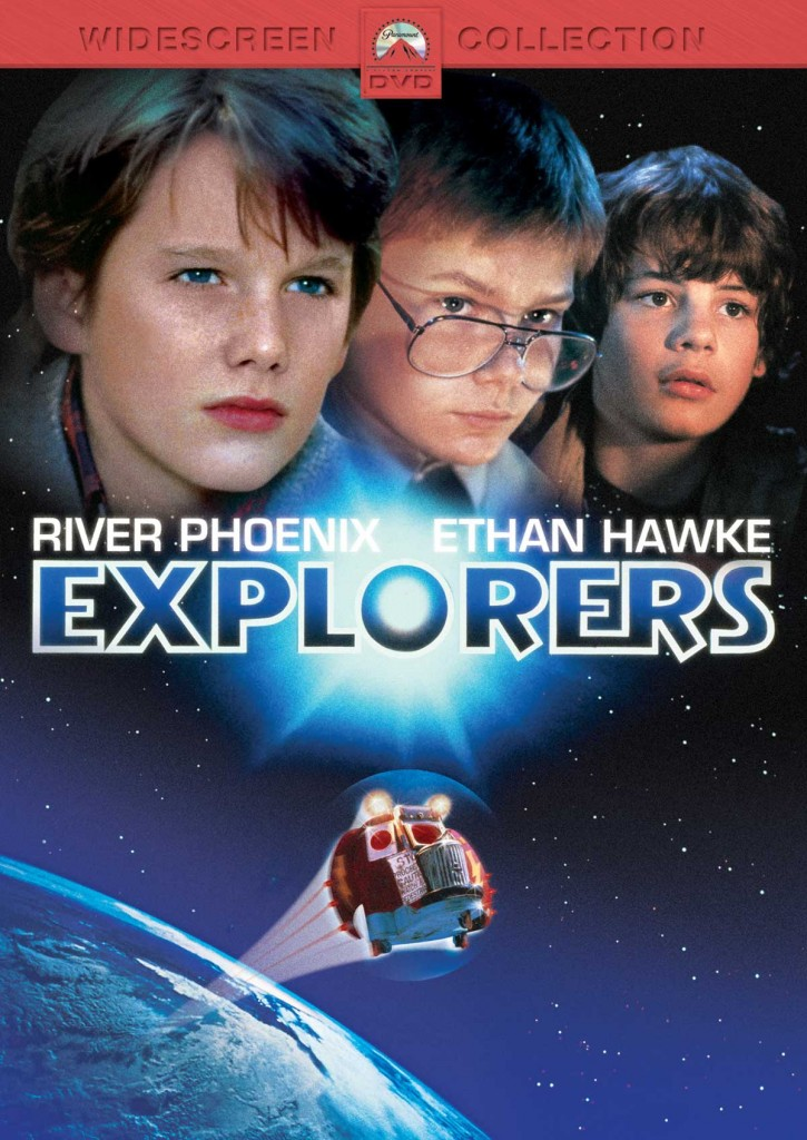 Locandina Explorers film anni 80 fantascienza