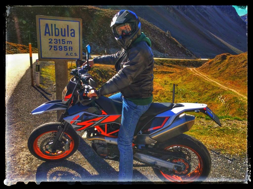 Albula Pass KTM SMC 690 R 2014